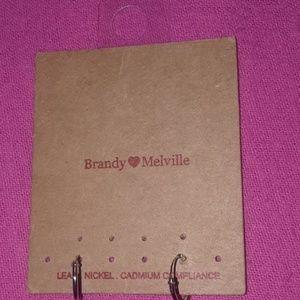 Brandy Melville Mini Silver Infinity Hoop Earings